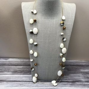 Long Double strand charming Charlie necklace